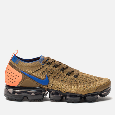 Мужские кроссовки Nike Air Vapormax Flyknit 2 Golden Beige/Racer Blue/Club Gold