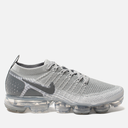 Мужские кроссовки Nike Air Vapormax Flyknit 2 Wolf Grey/Pure Platinum/Total Orange