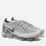 Мужские кроссовки Nike Air Vapormax Flyknit 2 Wolf Grey/Pure Platinum/Total Orange фото- 2