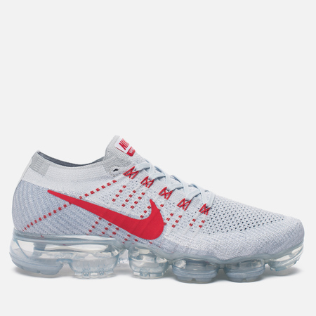 Мужские кроссовки Nike Air Vapormax Flyknit Pure Platinum/University Red