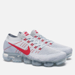Мужские кроссовки Nike Air Vapormax Flyknit Pure Platinum/University Red фото- 2