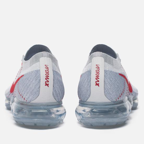 Мужские кроссовки Nike Air Vapormax Flyknit Pure Platinum/University Red