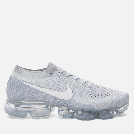Мужские кроссовки Nike Air Vapormax Flyknit Pure Platinum/White/Wolf Grey