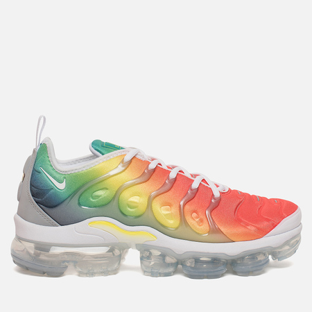 Мужские кроссовки Nike Air Vapormax Plus White/White/Neptune Green/Dynamic Yellow