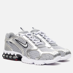 Мужские кроссовки Nike Air Zoom Spiridon Cage 2 Light Smoke Grey/Metallic Silver