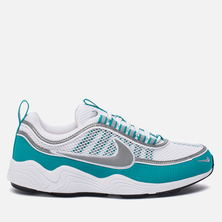 Мужские кроссовки Nike Air Zoom Spiridon White/Silver/Turbo Green/Laser Orange