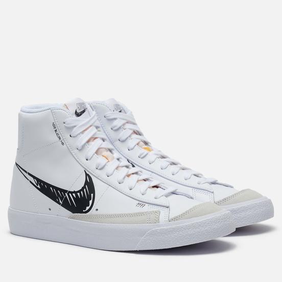 Мужские кроссовки Nike Blazer Mid Vintage 77 Sketch Pack White/Black/Platinum Tint