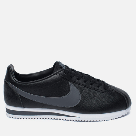 Nike Classic Cortez Leather Men's Sneakers Black/Dark Grey/White