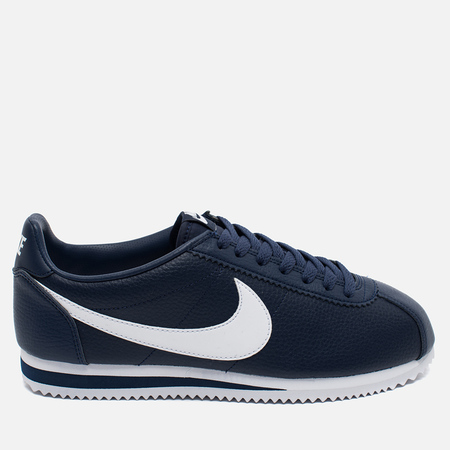 Nike Classic Cortez Leather Midnight Men's Sneakers Navy/White