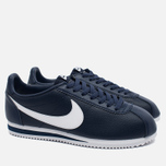 Мужские кроссовки Nike Classic Cortez Leather Midnight Navy/White фото- 1
