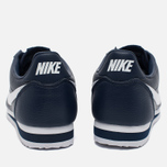 Мужские кроссовки Nike Classic Cortez Leather Midnight Navy/White фото- 3