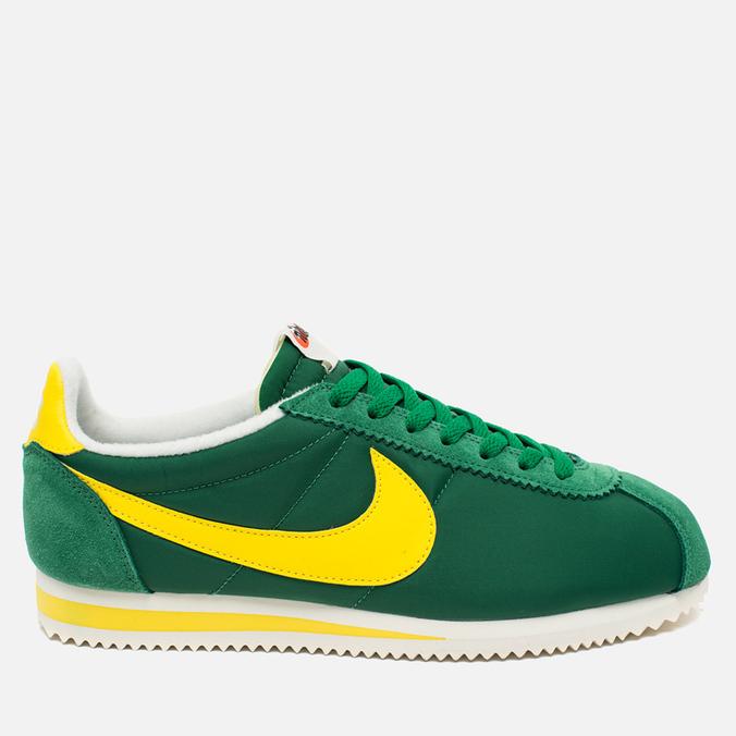 871ab556 Мужские кроссовки Nike Classic Cortez Nylon AW Pine Green/Opti Yellow/Sail  ...