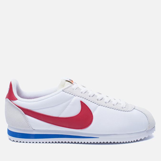 Мужские кроссовки Nike Classic Cortez Nylon Premium QS White/Varsity Red/Varsity Royal