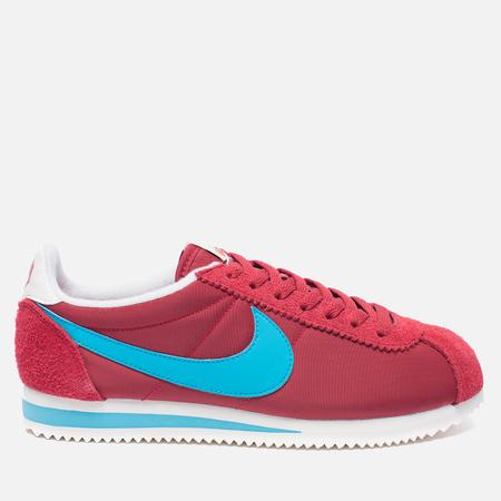 Nike Мужские кроссовки Classic Cortez Nylon Premium Stop Sign Varsity Red/Chlorine Blue