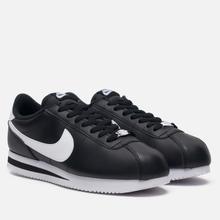 Мужские кроссовки Nike Cortez Basic Leather Black/White/Metallic Silver фото- 0