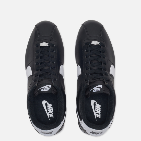 Мужские кроссовки Nike Cortez Basic Leather Black/White/Metallic Silver