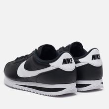 Мужские кроссовки Nike Cortez Basic Leather Black/White/Metallic Silver фото- 2