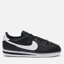 Мужские кроссовки Nike Cortez Basic Leather Black/White/Metallic Silver фото- 3