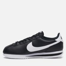 Мужские кроссовки Nike Cortez Basic Leather Black/White/Metallic Silver фото- 5