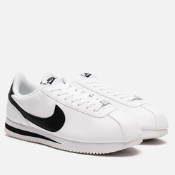 Мужские кроссовки Nike Cortez Basic Leather White/Black/Metallic Silver
