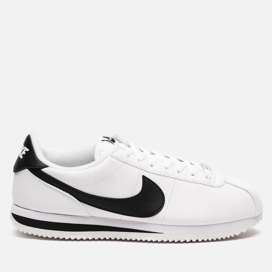 Мужские кроссовки Nike Cortez Basic Leather White/Black/Metallic Silver