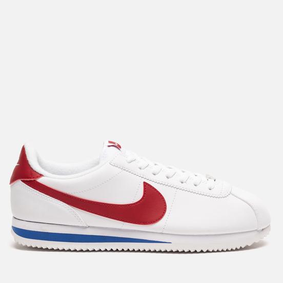 Мужские кроссовки Nike Cortez Basic Leather White/Varsity Red/Varsity Royal