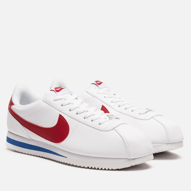 Мужские кроссовки Nike Cortez Basic Leather White/Varsity Red/Varsity Royal
