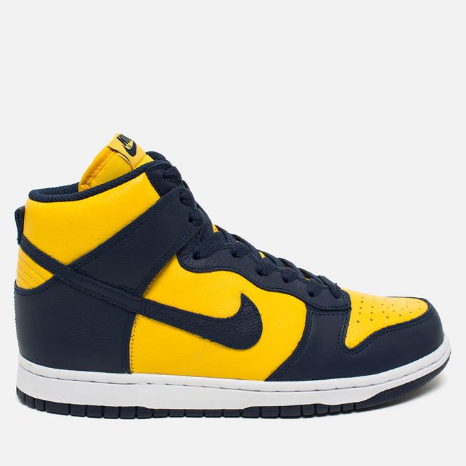 Мужские кроссовки Nike Dunk High Michigan Varsity Maize/Midnight Navy