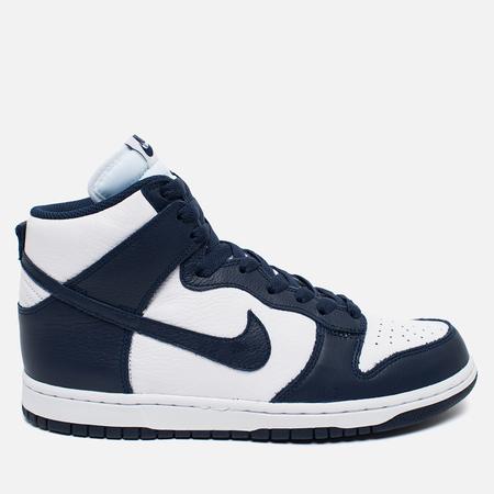 Мужские кроссовки Nike Dunk High Retro QS Villanova White/Midnight Navy