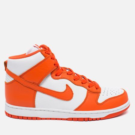 Nike Dunk High Retro QS Men's Sneakers Syracuse White/Team Orange