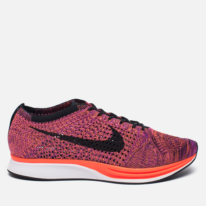 Мужские кроссовки Nike Flyknit Racer Black/Black/Hyper Orange/Vivid Purple
