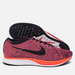 Мужские кроссовки Nike Flyknit Racer Black/Black/Hyper Orange/Vivid Purple фото- 1