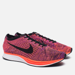 Мужские кроссовки Nike Flyknit Racer Black/Black/Hyper Orange/Vivid Purple фото- 2