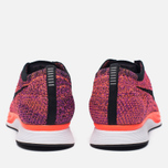 Мужские кроссовки Nike Flyknit Racer Black/Black/Hyper Orange/Vivid Purple фото- 3