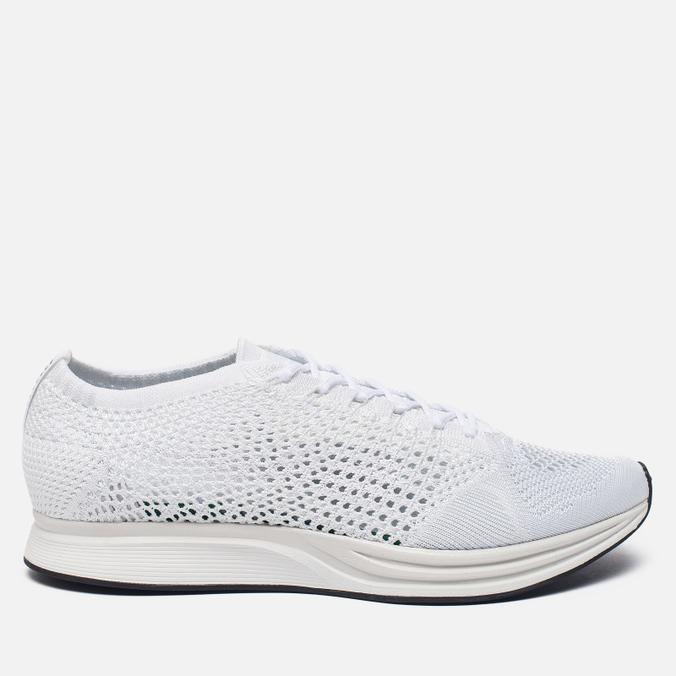 Мужские кроссовки Nike Flyknit Racer White/White/Sail/Pure Platinum