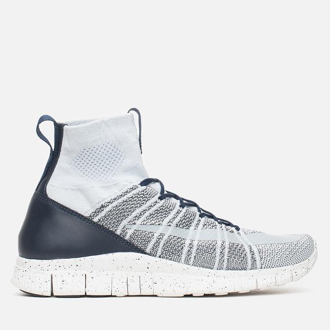 Мужские кроссовки Nike Free Flyknit Mercurial Pure Platinum/White/Dark Grey/Obsidian
