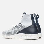 Мужские кроссовки Nike Free Flyknit Mercurial Pure Platinum/White/Dark Grey/Obsidian фото- 2
