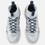 Мужские кроссовки Nike Free Flyknit Mercurial Pure Platinum/White/Dark Grey/Obsidian фото- 4