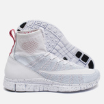 Мужские кроссовки Nike Free Flyknit Mercurial White/Pure Platiinum/University Red фото- 2