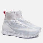 Мужские кроссовки Nike Free Flyknit Mercurial White/Pure Platiinum/University Red фото- 1