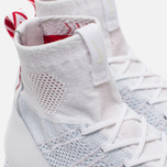 Мужские кроссовки Nike Free Flyknit Mercurial White/Pure Platiinum/University Red фото- 5