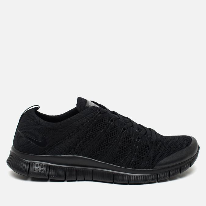 Мужские кроссовки Nike Free Flyknit NSW Black/Black