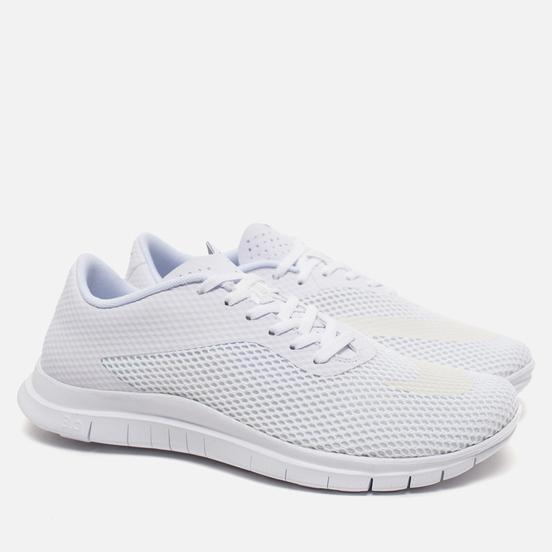 Мужские кроссовки Nike Free Hypervenom Low White/Metallic Silver