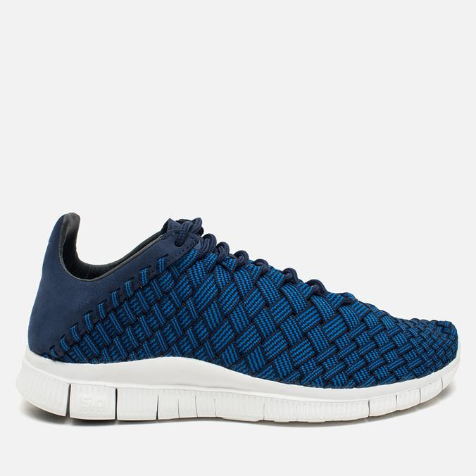 Nike Free Inneva Woven Fountain Men's Sneakers Blue/Summit White/Mid Navy