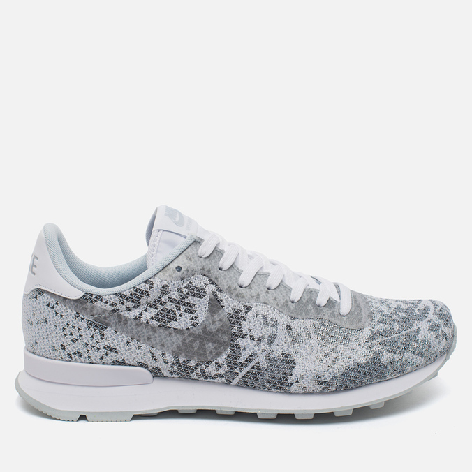 Мужские кроссовки Nike Internationalist Jacquard White/Metallic Platinum/Pure Platinum