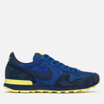 Nike Internationalist Leather Men's Trainers Midnight Navy/Voltage Yellow photo- 0