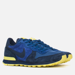 Nike Internationalist Leather Men's Trainers Midnight Navy/Voltage Yellow photo- 1