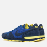 Nike Internationalist Leather Men's Trainers Midnight Navy/Voltage Yellow photo- 2