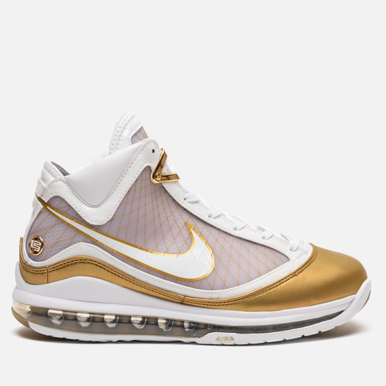 Мужские кроссовки Nike Lebron VII QS China Moon White/White/Metallic Gold