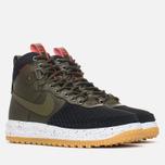 13b88d9b Мужские зимние кроссовки Nike Lunar Force 1 Duckboot Gum Light Brown/Dark  Loden фото-